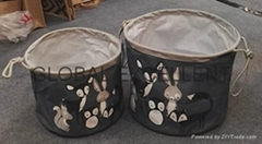 棉麻储物篮
