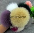 Hebei wholesale fur pom poms keychain