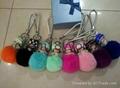 Top quality rabbit fur~~ Wholesale cute rabbit fur keychains for car keys 1