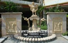 石雕噴水池