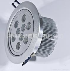 LED9X1W天花燈