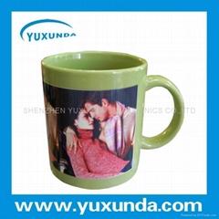 Color changing coating mug