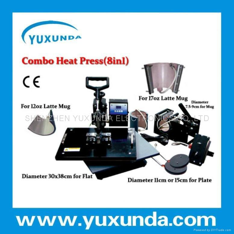hot 8 in 1 multifunctional heat press machine 5