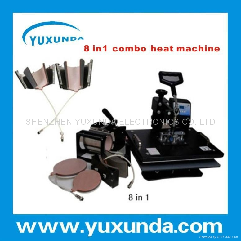 hot 8 in 1 multifunctional heat press machine 6