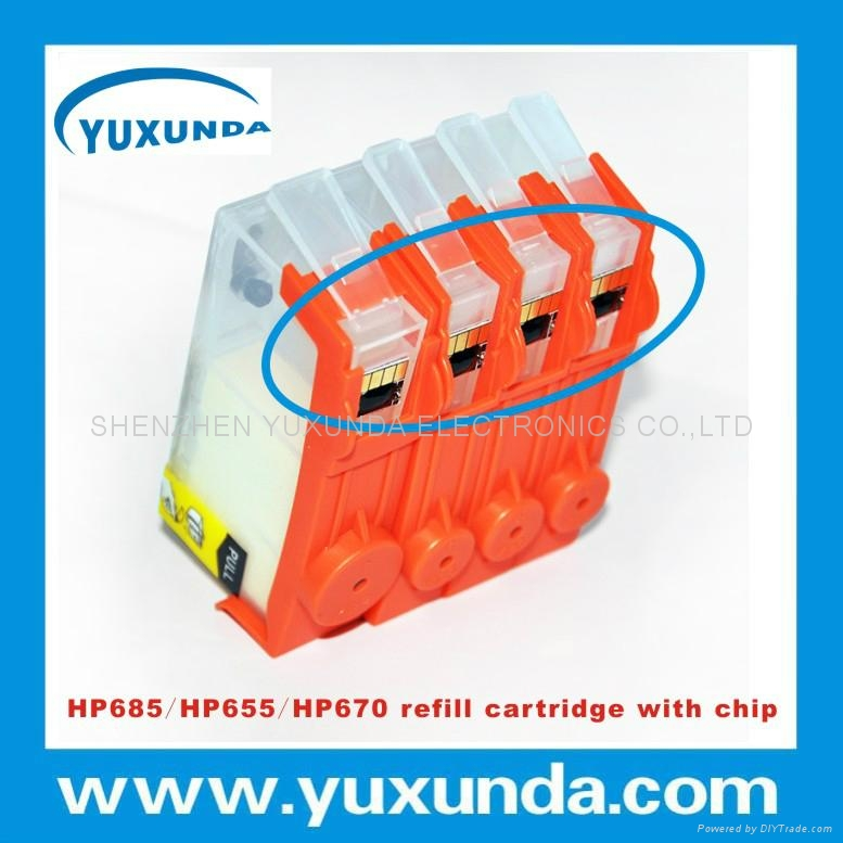 填充墨盒HP685/HP670/HP655帶芯片 1