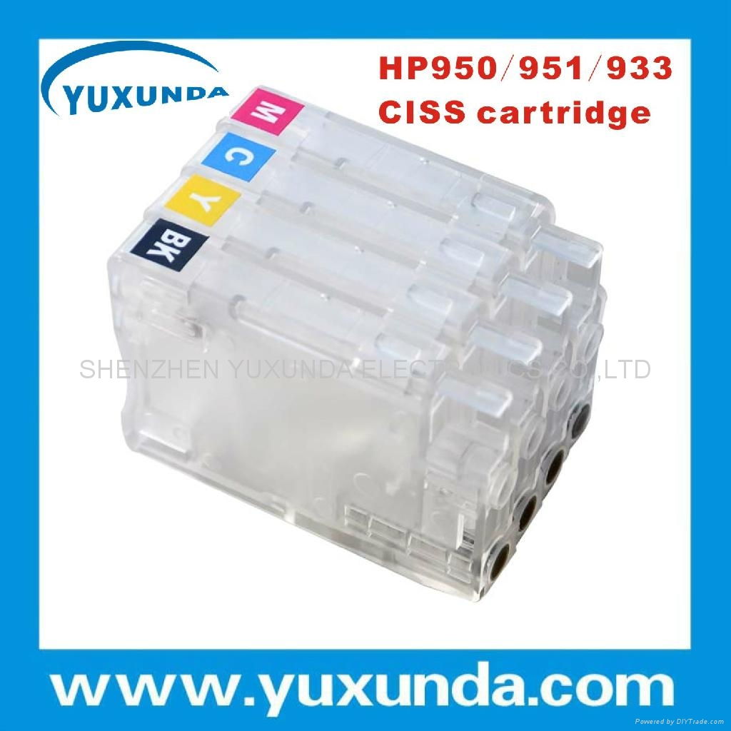 newest transparent 950/951/933/932 ciss cartridge wih chips for hp8600/8100/6100 2