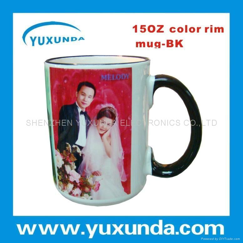Color rim Mug