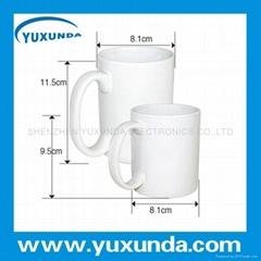 white mug for heat transfer