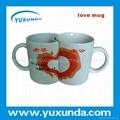 lovers' mug for heat transfer