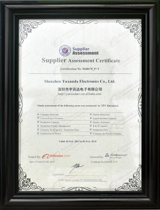 Assessed Supplier by TUV Germany