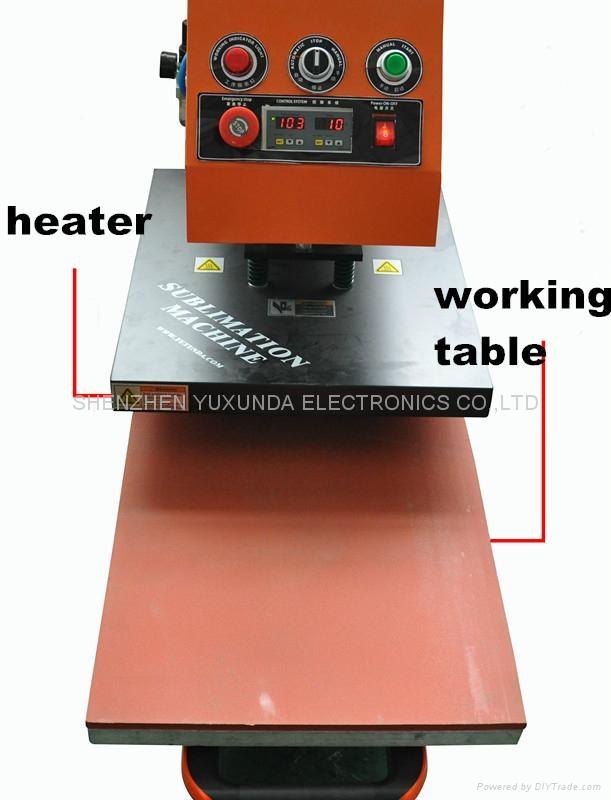 60*80cm YXD-A8 air operated single station heat press machine  9