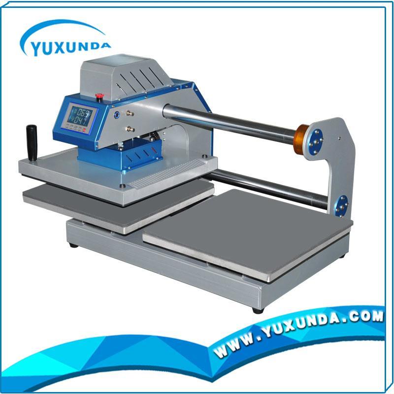 Pneumatic two worktable digital heat press machine for t-shirt 9