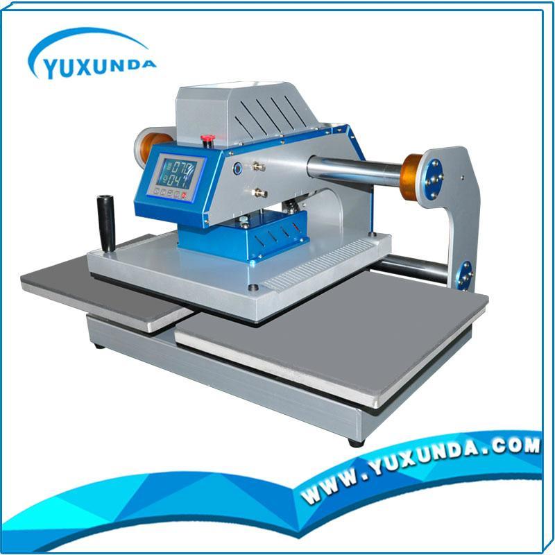 Pneumatic two worktable digital heat press machine for t-shirt 8
