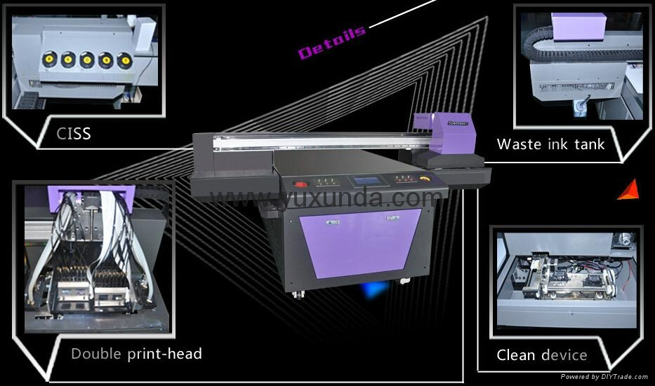 2016 newest DX5 two printer heads uv flatbed printer 10