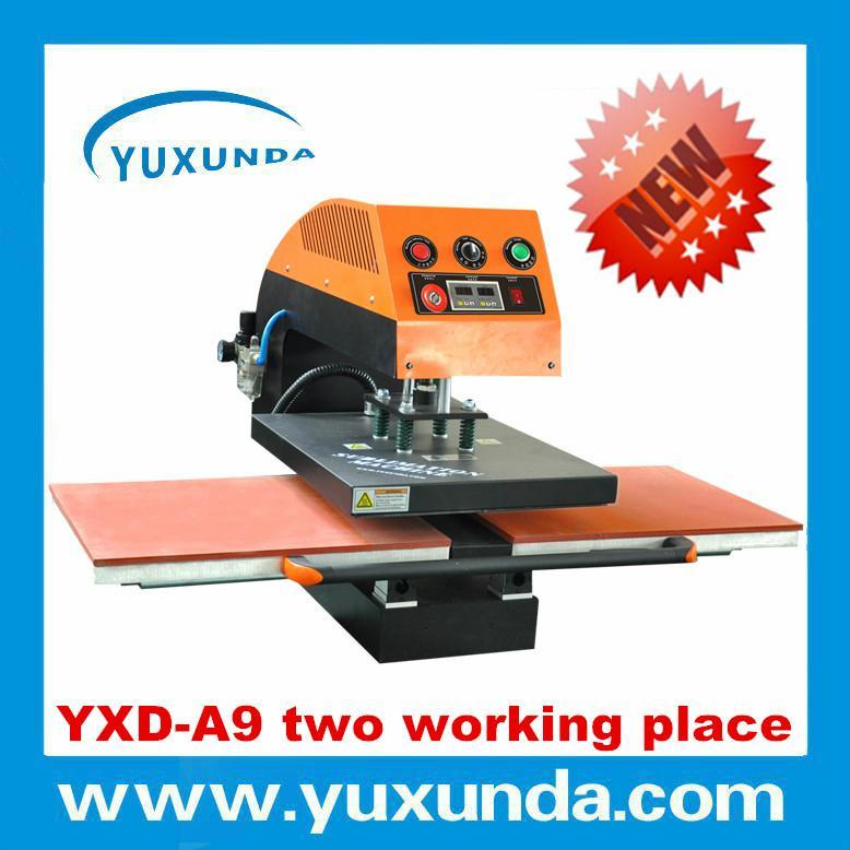 60*80cm YXD-A8 air operated single station heat press machine  4