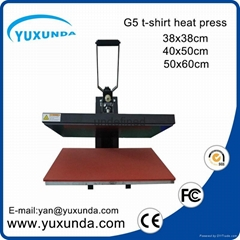 CE Approved Manual Semi-automatic Heat Sublimation Transfer Machine Plain Press  (Hot Product - 1*)