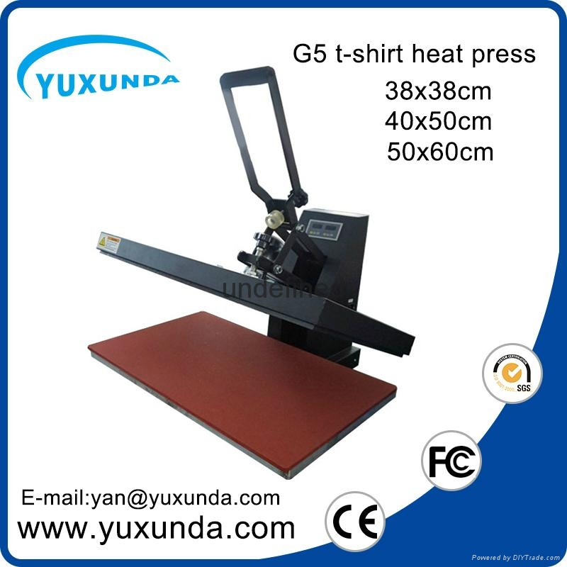 CE Approved Manual Semi-automatic Heat Sublimation Transfer Machine Plain Press  3