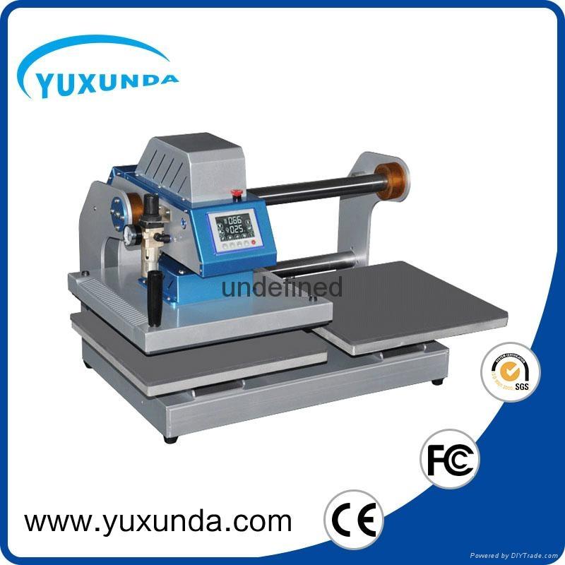 Pneumatic two worktable digital heat press machine for t-shirt 4
