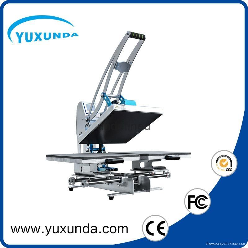 Pneumatic two worktable digital heat press machine for t-shirt