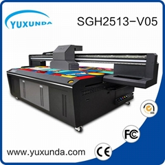 6pcs gh2220 printhead digital inkjet uv printing machine with big size