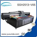 6pcs gh2220 printhead digital inkjet uv printing machine with big size