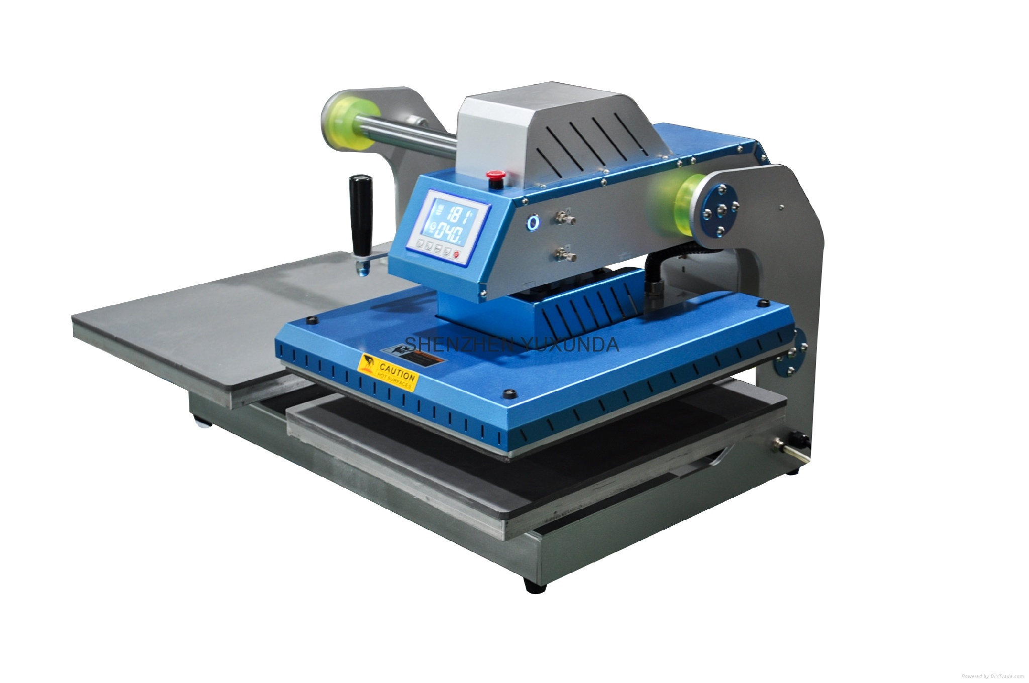 Pneumatic two worktable digital heat press machine 3