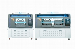 Double location DTG printer with Epson I3200 print heads
