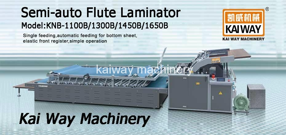Semi-auto Flute Laminating Machine 1