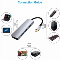 USB C Adapter Type C hub with 4k HDMI Video Output,Power Delivery PD Charging