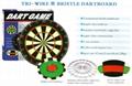 Blade wire bristle dartboard