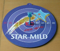 Promotional magnetic dartboard