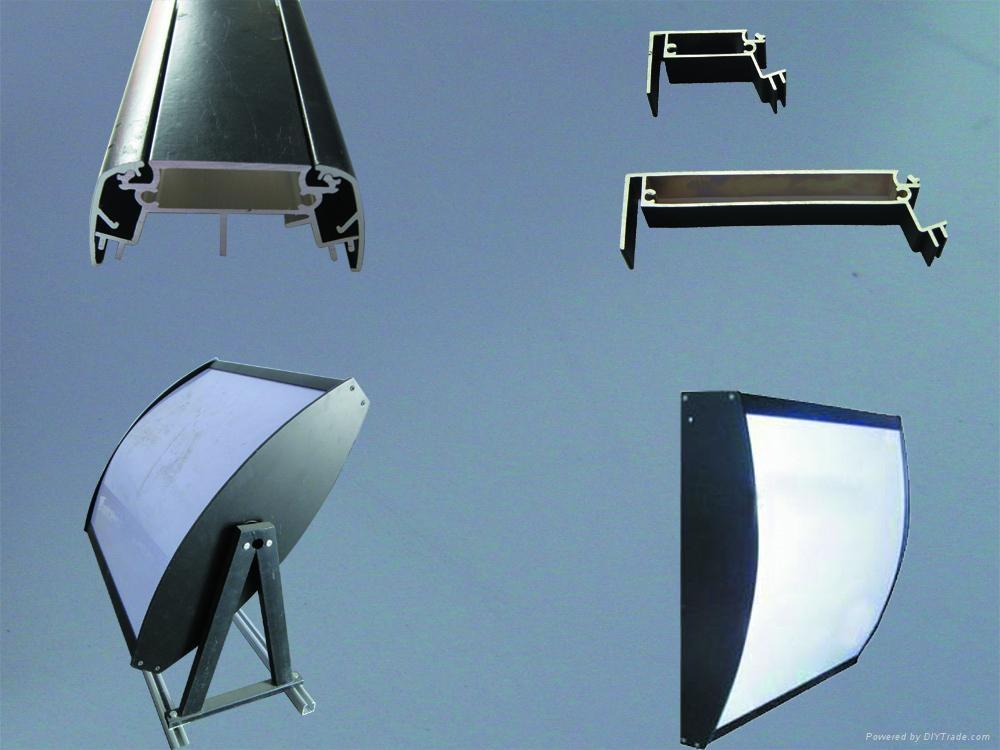 雙面弧形點餐燈箱 1