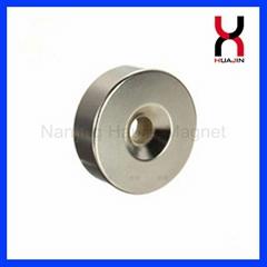 釹鐵硼沉頭磁鐵 圓形方形打孔磁鐵