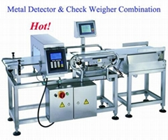 Combo metal detector and check weigher