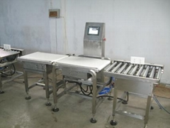 automatic heavy duty belt check weigher with rejection for box, bag package