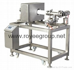 Pipeline Metal detector for sauce products