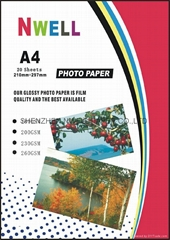 220g Glossy/Glossy Photo Paper A4