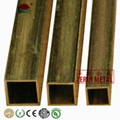 6 meters long 2 inch square brass tube