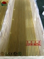 5 meters long polished brass tube