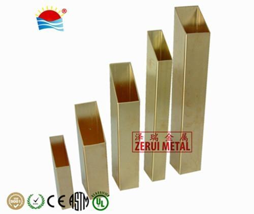 6 meters rectangular brass tube 3/4x1-1/2  1