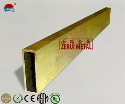 6 meters rectangular brass tube 3/4x1-1/2  2