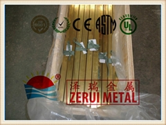 brass tubing in square type, ASTM B135 standard