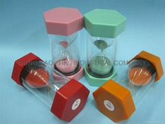 Educational Plastic Sand Timer / Sandglass HY1004P