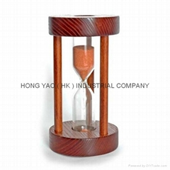 Wood Sandglass Sand Timer Clock, Hourglass HY510W