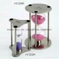 Metal Sandglass, Sand Timer clock, Hourglass, HY302M 5