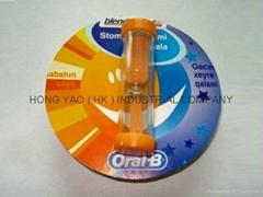 咭紙廣告沙漏, 儿童刷牙計時沙漏,  HY770CD