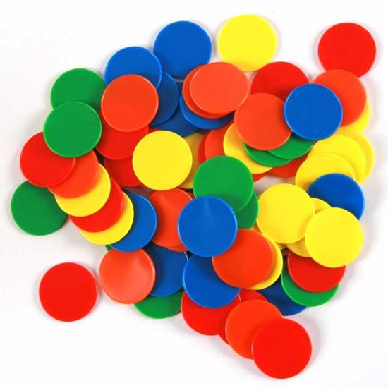 Board Game Pieces, Plastic Poker Counter Bingo Chips Kids Fun Toy Gift 5