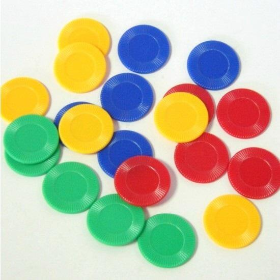 Board Game Pieces, Plastic Poker Counter Bingo Chips Kids Fun Toy Gift 4