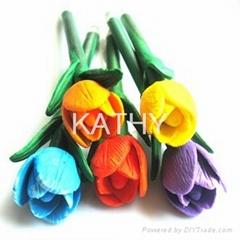Polymer tulip clay pen