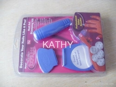 Nail art stamp kit salon
